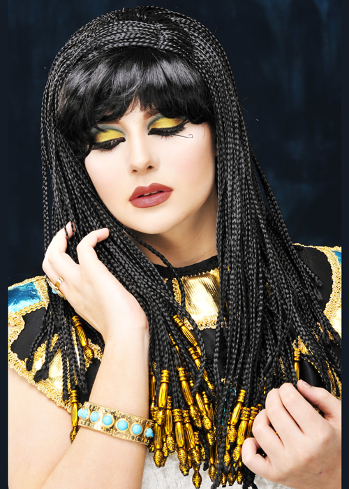 Ladies Black Queen Cleopatra Wig