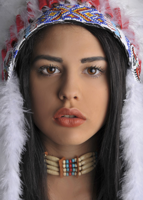 RED INDIAN CHOKER Beads Necklace Cowboy Fancy Dress