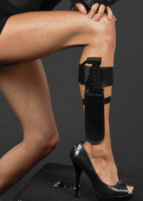 Lara Croft Style Action Ankle Holster With Knife Ba977