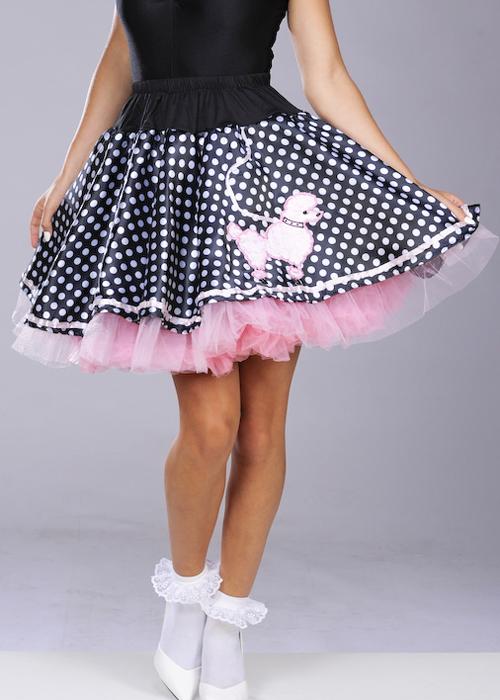 Ladies 50s Polka Dot Poodle Skirt Ac393 Disc Struts