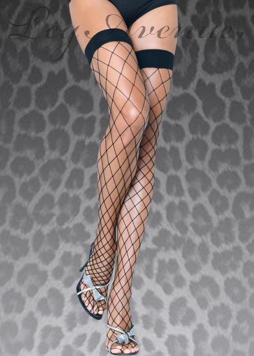 71d0c2b0ae5 Leg Avenue Black Fence Net Thigh Highs