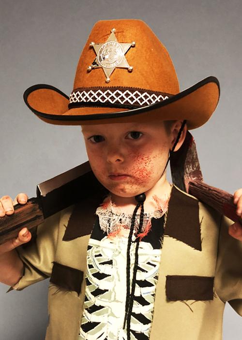 Kids Walking Dead Style Brown Sheriff Hat