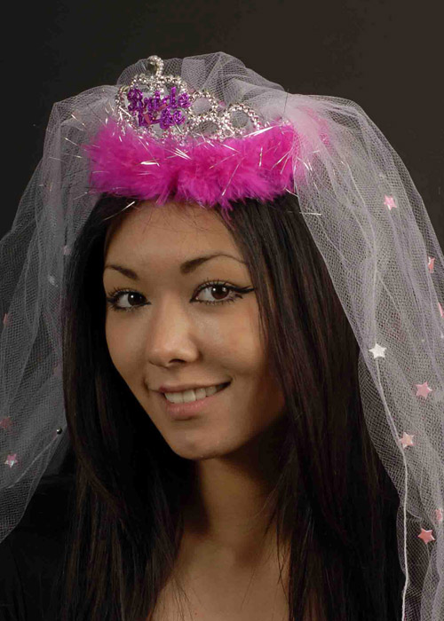 Fine Fluffy Bride To Be Tiara With Veil Hairstyles For Men Maxibearus