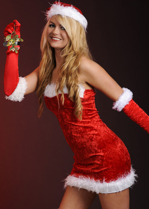 Ladies Sexy Miss Santa Costume Ladies Sexy Miss Santa Costume
