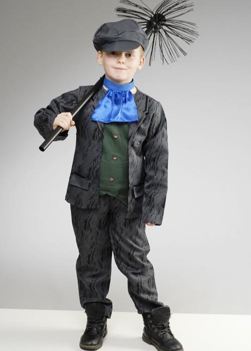BOY/'S VICTORIAN CHIMNEY SWEEP FANCY DRESS COSTUME