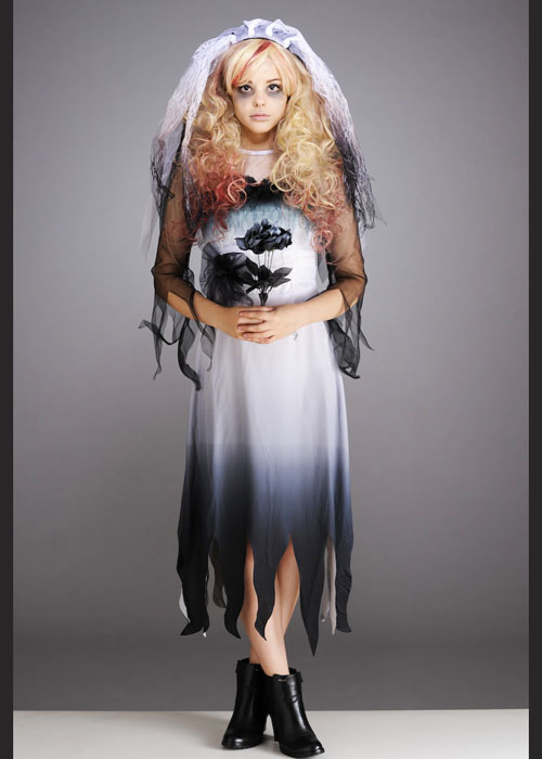 Dead Bride Halloween Costume.Details About Kids And Teen Size Gothic Zombie Bride Halloween Costume