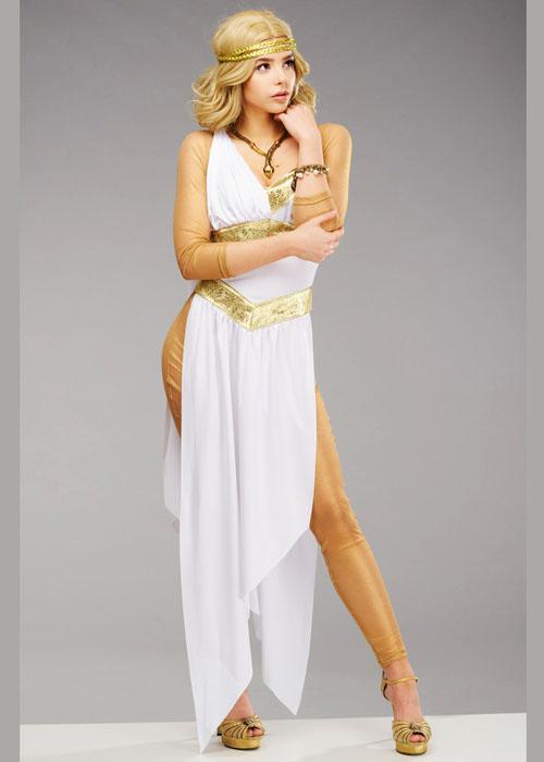 Womens Deluxe Golden Greek Goddess Costume