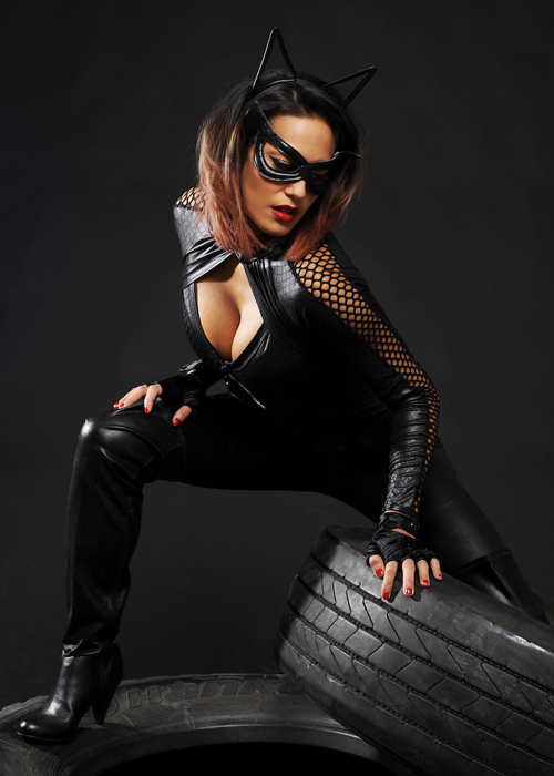Womens Black Wicked Catwoman Style Costume