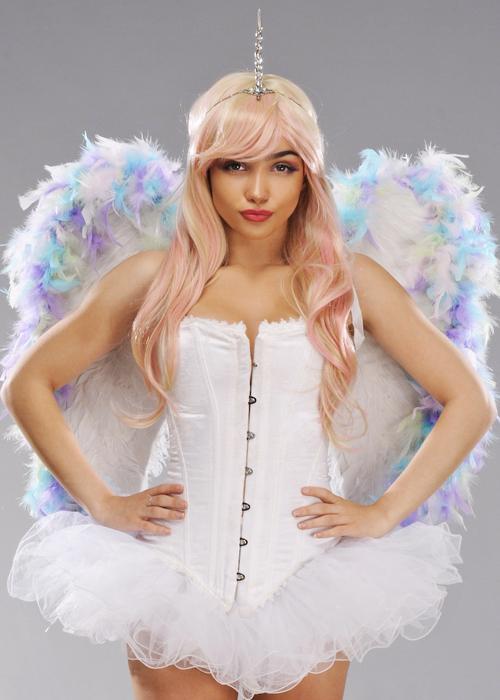 1c4f782e1 Deluxe Sparkle Unicorn Pastel Rainbow Feather Wings