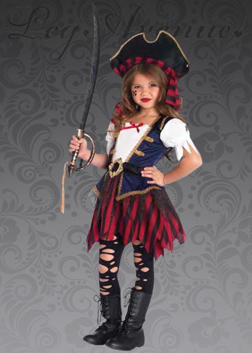 da67abe54 Kids Leg Avenue Caribbean Pirate Girl Costume
