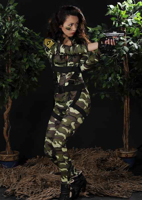 & Ladies Sexy Paratrooper Army Costume