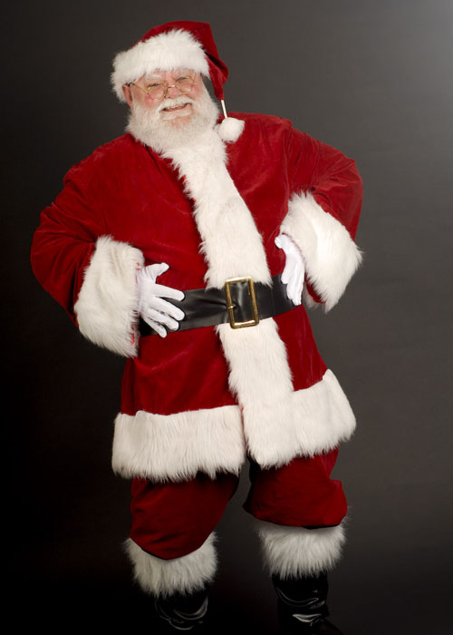 Adult luxury velvet santa claus costume