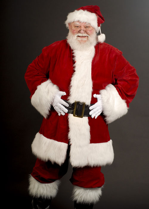 Mens Luxury Crimson Velvet Santa Claus Costume Adult