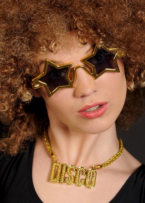 7da156303885 Gold 70s Disco Necklace