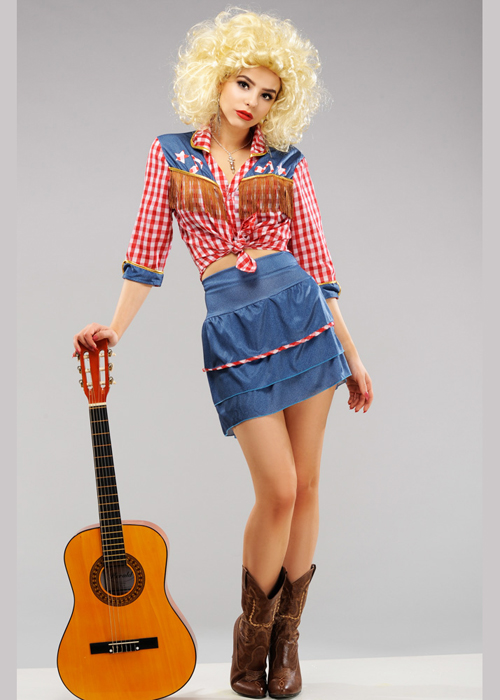 Womens Dolly Parton Wild West Cowgirl Costume
