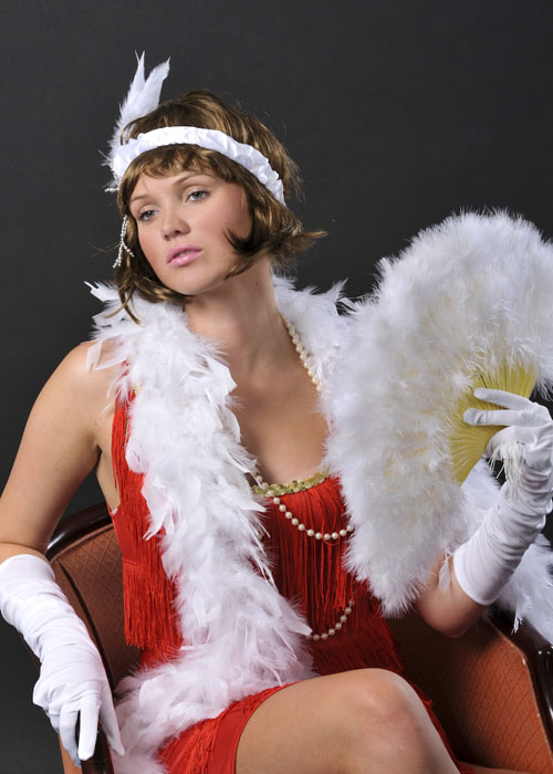 1920s Flapper Girl Deluxe White Feather Boa 38311