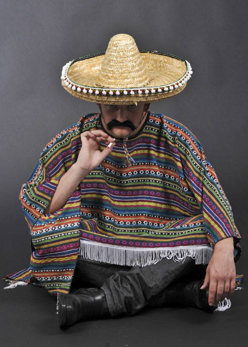 Mens Authentic Western Mexican Poncho 2642 Struts
