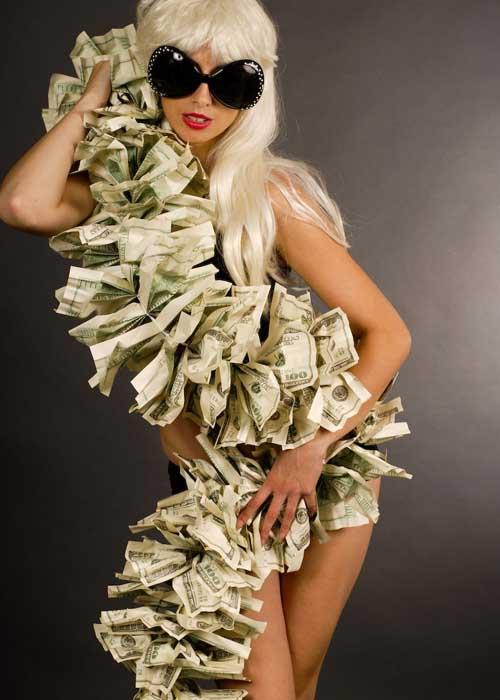 Lady Gaga Style Pop Star Money Boa