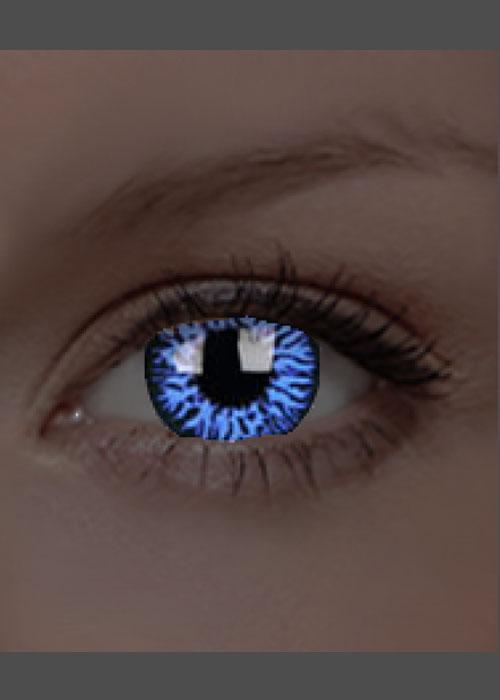 47de2d7e8 UV Glow Blue Drax Crazy Eye Lenses 1 Year