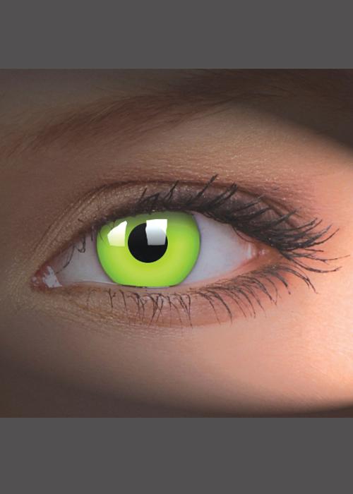 dd2dedac4 UV Glow Green Crazy Eye Lenses 1 Year