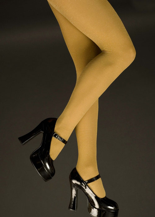 Many fine pantyhose gold