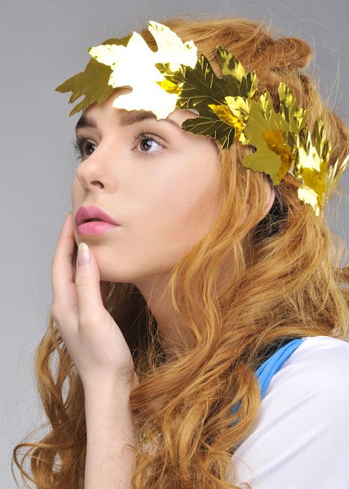 Roman Gold Laurel Wreath Headpiece