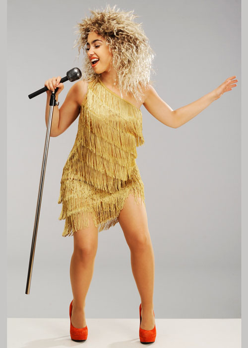 Womens 80s Tina Turner Style Costume With Wig Ebay