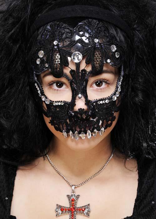 3b465c233a0 Womens Mexican Black Lace Sugar Skull Mask