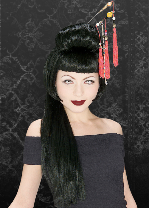 a0721789d Ladies Gothic Black China Girl Wig
