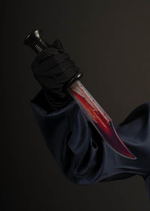 Halloween Horror Bleeding Scream Knife Halloween Horror