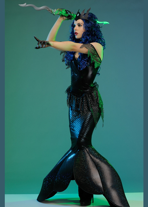 Womens Gothic Dark Water Mermaid Costume