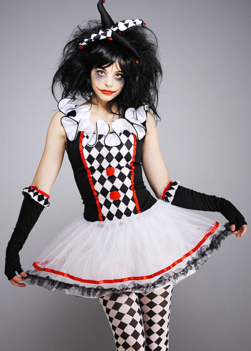 Teen Size Halloween Gothic Harlequin Honey Costume  sc 1 st  eBay : harlequin jester costume  - Germanpascual.Com
