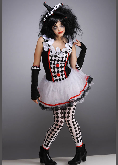 teen size halloween gothic harlequin honey costume