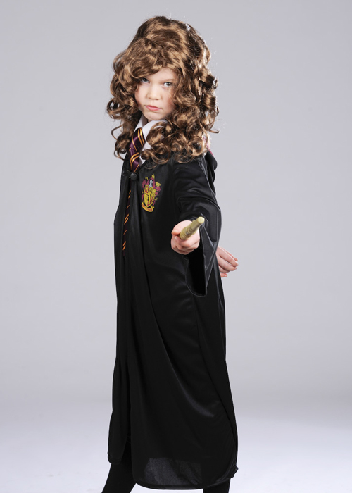 Hermione Granger Wig Kids Harry Potter Halloween Costume Fancy Dress