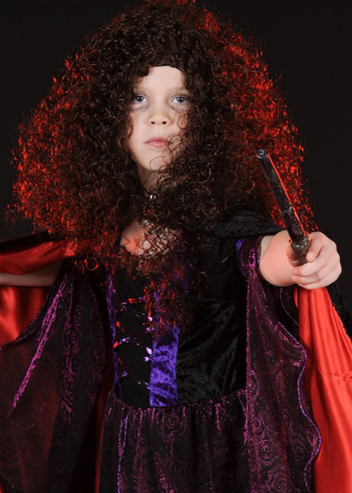 kids bellatrix lestrange style curly wig