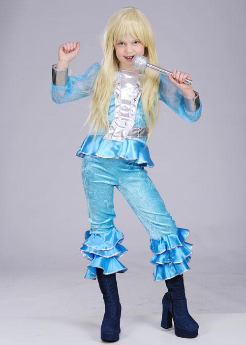 Kids 70s Blue Abba Girl Costume