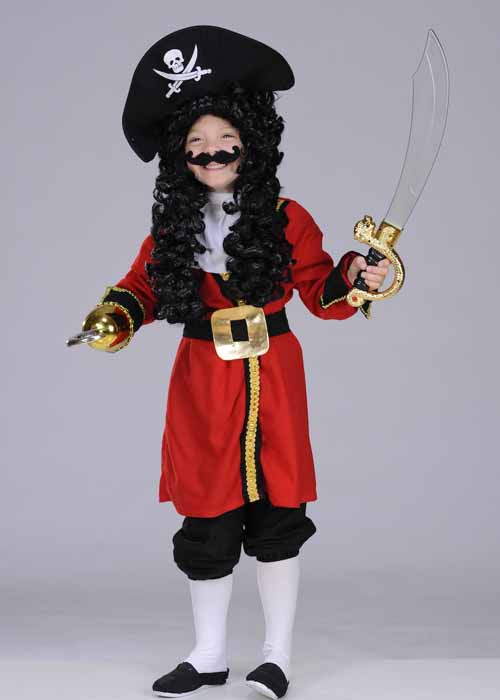 & Kids Captain Hook Style Pirate Costume