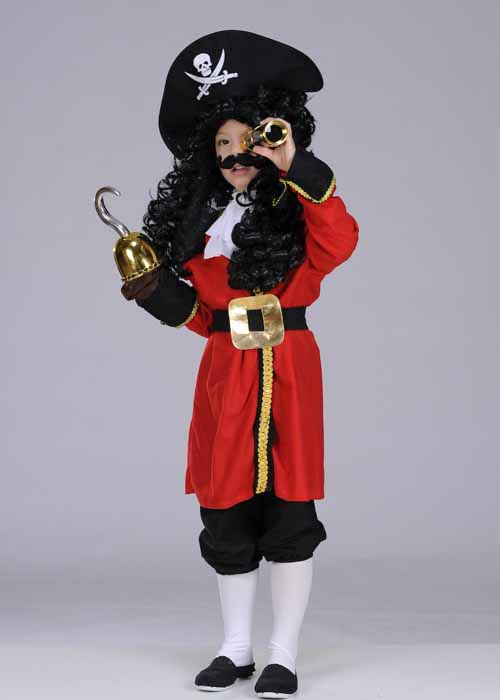 Kids Captain Hook Style Pirate Costume