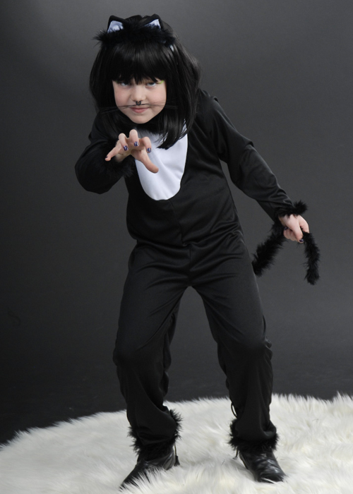 Kids Halloween Witches Black Cat Costume  sc 1 st  Struts Fancy Dress & Kids Halloween Witches Black Cat Costume Kids Halloween Black Cat ...