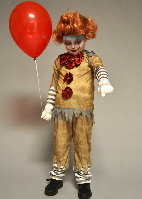 Childrens New Pennywise It Clown Style Costume With Wig Ebay