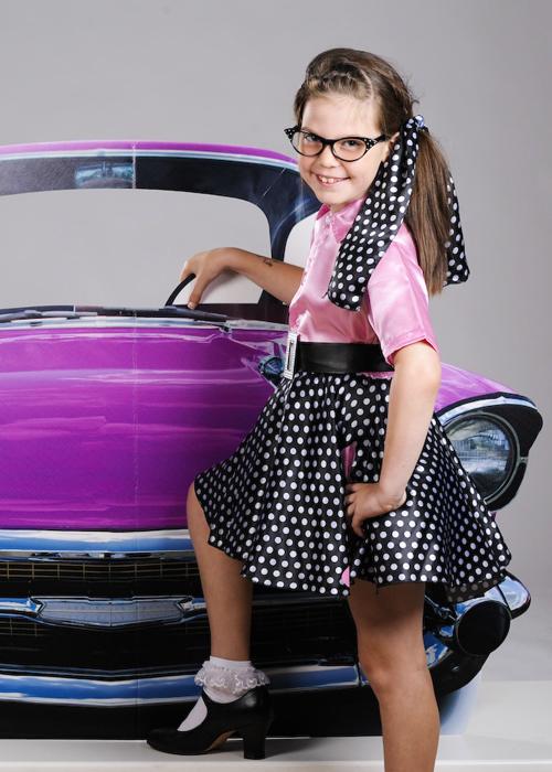 childrens 1950s pink rock n roll girl costume. Black Bedroom Furniture Sets. Home Design Ideas