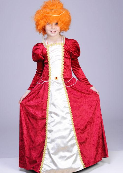 Childrens Red Queen Elizabeth I Tudor Costume