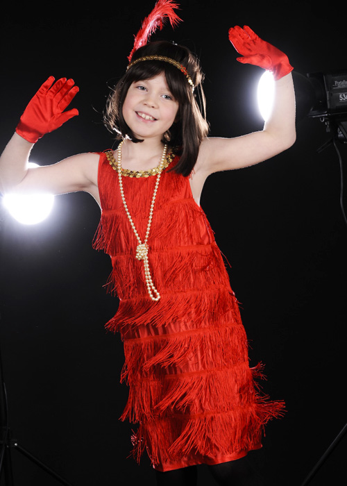 625c8c508 Kids Size 1920s Red Flapper Girl Costume