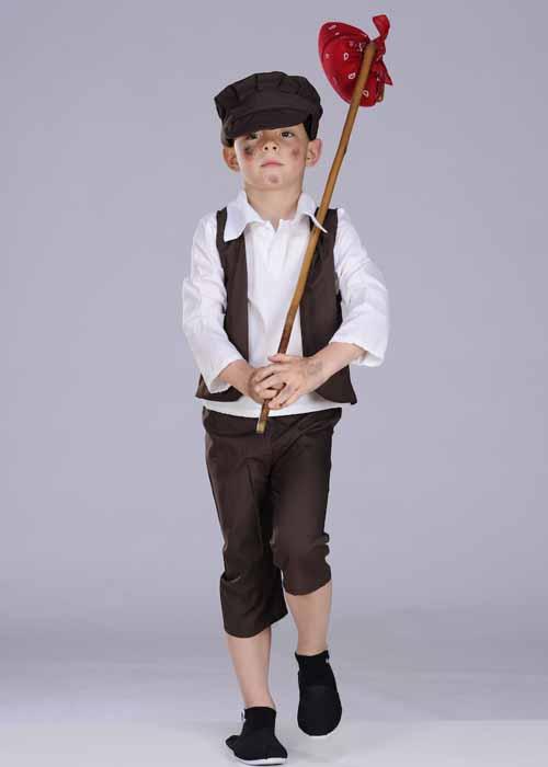 Kids Brown Medieval Tudor Boy Costume 2304 Struts
