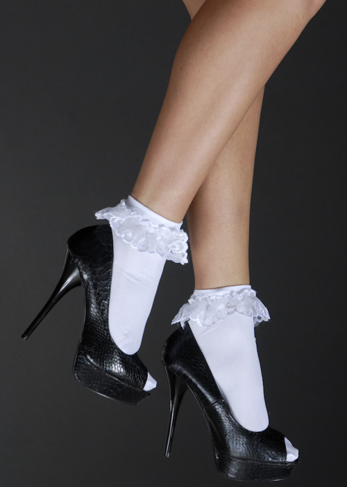 80 s legwarmers and tights 80s fancy dress white ruffled ankle socks