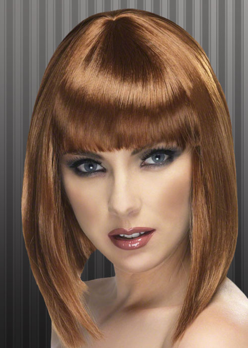 Ladies 20 S Brown Blunt Bobbed Wig Ebay