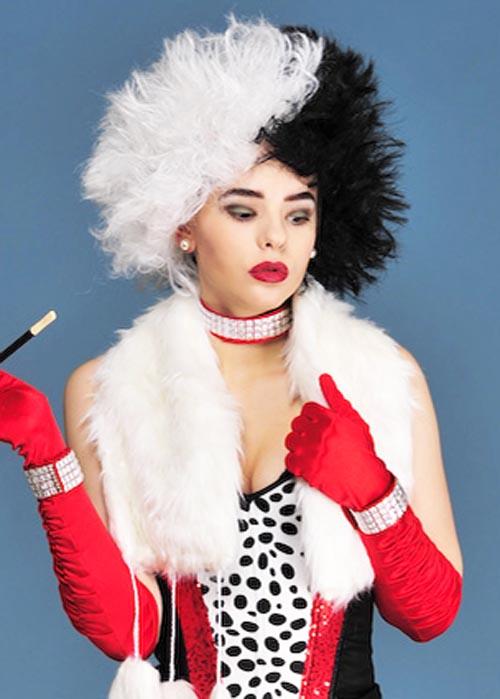 Cruella Deville Style Evil Madam Wig