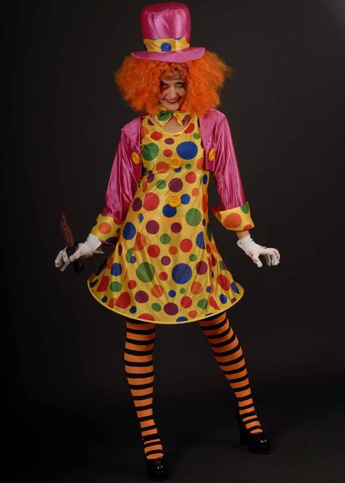 Womens Scary Clown Halloween Costume Ladies Horror Clown