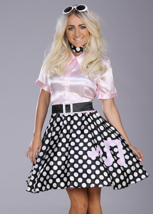 Ladies Cute Pink 1950s Rock N Roll Costume 3627 Struts