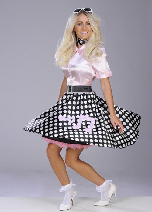 Ladies Cute Pink 1950s Rock N Roll Costume 3627 Struts